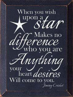 When You Wish Upon A Star... - Wood Sign - Black with Cottage White – Red Barn Company Store