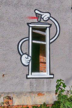 #spray #window #art #streetart #street #graffiti #bombz