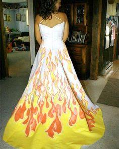 20. <i>Flame</i> wedding dress
