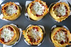 Vita Thani: lasagna en moldes de cupcakes!