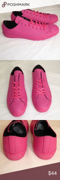 """NEW Converse  CTAS Pinktober Unisex Shoes #135 New without box Converse  Chuck Taylor All Star vivid pink """"Pinktober"""" unisex shoes.  Men's size 12 / women's size 14, style #155185C. Converse Shoes Athletic Shoes"""