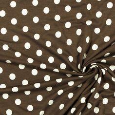 Žerzej Drop Dots 7 - Viskóza - Elastan - hnědá Polka Dots, Diy Things, Drop, Fun, Diy Stuff, Dots, Funny