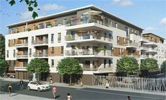 SAINT-OUEN-L'AUMONE (95): Dans une résidence élégante et moderne, T1 de 20m2 au 4ème et dernier étage avec ascenseur. Loggia de 3m2 et parking. Confort optimum (norme BBC-RT2012). En plein centre ville et à 100 mètres des berges de l'Oise.