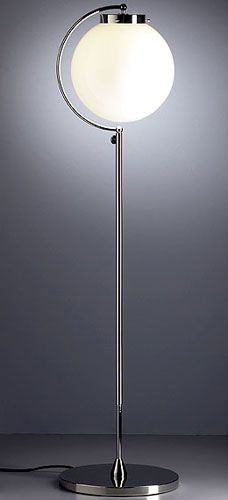 Bauhaus lamp designed by Richard Döcker. 1923, this is in the same year has the desk lamp designed in 1923 you can see the similarity's from the shape of the bulb and the stainless steal stand.
