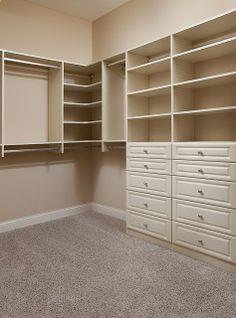 for master closet- like how it incorporates corner