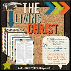 Mormon Mom Planners - Monthly Planner/Weekly Planner: The Living Christ Lds Church, Church Ideas, Mormon Mom Planner, Missionary Quotes, Sunday School Curriculum, Lds Scriptures, Doctrine And Covenants, Family Home Evening, Scripture Study