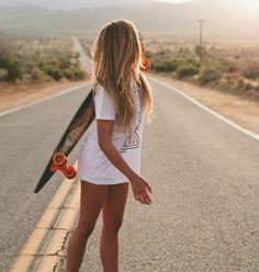 Buy Goldcoast Longboards at Blue Tomato. Your online shop for snow, skate, surf & streetwear since Best price guarantee ✔ Girls Skate, Surf Girls, Skateboard Girl, Skateboard Decks, Surfboard, Ft Tumblr, Beach Vibes, Surfer Girl Style, Skate Style