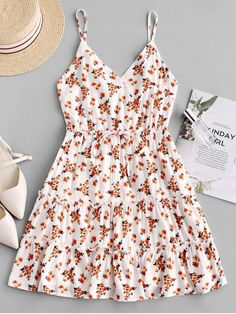Cute Summer Outfits, Cute Casual Outfits, Pretty Outfits, Pretty Dresses, Spring Outfits, Casual Dresses, Summer Dresses, Teen Fashion Outfits, Fashion Dresses
