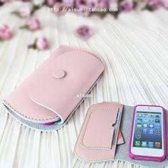 Lovely smart/Handmade Genuine Leather Phone cases  / Hand bag / wallet / iphone case / leather case / handcrafted