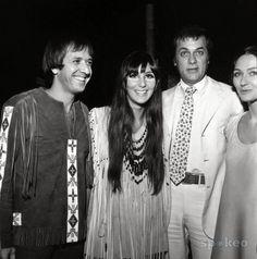 Sonny Bono, Cher, Tony Curtis & Christine Kaufman
