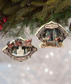 Dress your tree with magical little Christmas scenes with these charming Vintage Christmas Vignette Ornaments. Shop Bethany Lowe Christmas Decorations now! Outdoor Christmas Tree Decorations, Diy Christmas Garland, Christmas Vignette, Mini Christmas Tree, Christmas Mantels, Christmas Scenes, Vintage Christmas, Christmas Ideas, White Christmas