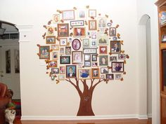 awesome personal touch idea for the store - ali lou's barista family tree, all with our names and faces