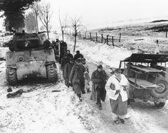 In 1944 Battle of the Bulge, Albert Darago, then 19, took on a German tank by himself - http://www.warhistoryonline.com/war-articles/1944-battle-bulge-albert-darago-19-took-german-tank.html