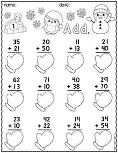 Snowman Math Worksheets Awesome Kindergarten Worksheets Math Literacy Winter and No Prep Math Addition Worksheets, First Grade Math Worksheets, Printable Math Worksheets, Second Grade Math, School Worksheets, Kindergarten Worksheets, Worksheets For Kids, Math Writing, Math Literacy
