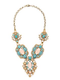 V Statement Bib Necklace by Deepa Gurnani at Gilt