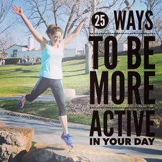 23 Ways to Be More Active - CLICK for list!  #fitness #health #motivation #inspiration #fit