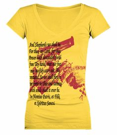 Boondock Veritas Quote Screen Print  Womens VNeck by GOFBclothing, $19.00