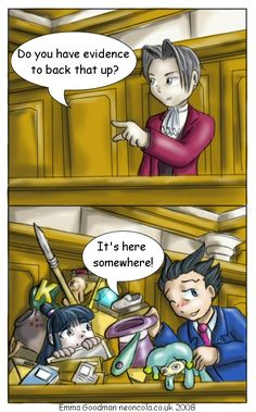 Phoenix Wright has more storage space than the Magic Panties