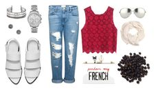 """Blue, Red, and white"" by ran616 on Polyvore"