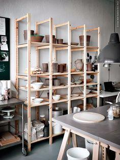Ideias para um ateliê mais bonito e organizado - dcoracao.com - blog de decoração e tutorial diy