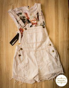 Macaquinho jeans branco lilimoon  #lilimoon #macaquinho #jeans #branco #lojapimpolho #pimpolho #crescendocomapimpolho