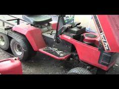Lawnmower tank tracks test run. Lawn Mower Repair, Lawn Mower Tractor, Riding Mower, Small Engine, Go Kart, Tractors, Monster Trucks, Racing, Toy