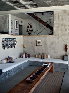 grey / beige / wood - livingroom A PHOTOGRAPHER'S HOME NEAR CAPE TOWN | von the style files