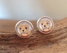 Little Bear Stud Earrings made with vintage book illustrations New Item, Etsy Seller, Stud Earrings, Bear, Vintage Illustrations, Unique Jewelry, Handmade Gifts, Turning, Kid Craft Gifts