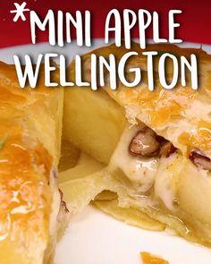 Mini Apple Wellington -Tasty - Food Videos And Recipes Fruit Recipes, Apple Recipes, Brunch Recipes, Dessert Recipes, Cooking Recipes, Honey Recipes, Recipies, Sweet Desserts, Delicious Desserts