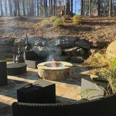 Top 50 Best Patio Firepit Ideas - Glowing Outdoor Space Designs Back Garden Design, Patio Design, Outdoor Firewood Rack, Backyard Layout, Backyard Landscaping, Patio Plans, Garden Architecture, Fire Pit Backyard, Pergola
