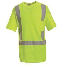 High Visibility Green Short Sleeve T-Shirt - Class 2 Level 2 by Red Kap Work Uniforms, Shirt Maker, Shorts With Pockets, Work Shirts, Green Shorts, Big & Tall, Clothing Items, Custom Shirts, Tees