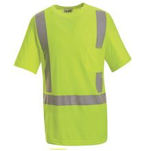 High Visibility Green Short Sleeve T-Shirt - Class 2 Level 2 by Red Kap SYK6 | Hi Vis Safety Direct will beat any other price , we are #1 in Hi Visibility Items .