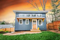 This is the Blue ADU Tiny House (384 sq. ft.) near Downtown Asheville. It features a wonderful first floor design (no upstairs or lofts) and is built by Nanostead. Enjoy! Blue ADU Tiny House Built …