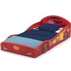 Toddler Bed Mattress, Comfort Mattress, Lightning Mcqueen Race Car, Race Car Bed, Disney With A Toddler, Delta Children, Disney Pixar Cars, Child Safety, Baby Cribs