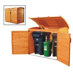 Leisure Season Storage, Tool & Garden Shed RSS2001 Trash and Recycling Center