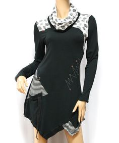 Black & White Polka Dot Tunic - Women | Daily deals for moms, babies and kids