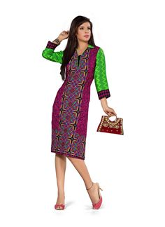 Purple Printed Lovely kurtis