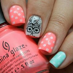nail polish designs for summer Girls Nail Designs, New Nail Designs, Pretty Nail Designs, Nail Polish Designs, Nails Design, Love Nails, How To Do Nails, Pretty Nails, My Nails