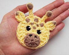 Cat Applique Crochet Applique Crochet Cat Gray Cat Sew on Crochet Panda, Crochet Sheep, Chat Crochet, Crochet Amigurumi, Crochet Animals, Crochet Dolls, Crochet Hats, Crochet Jacket, Crochet Rabbit