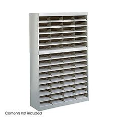 E-Z Stor Literature Org. 60 Compartment, Gray-GRR #office #furniture #bookcase #bookshelves #file #shelves #ranks