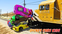 DISNEY PIXAR CARS: Lightning McQueen in Train Trouble! Tow Mater & Mack ...