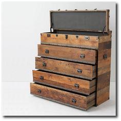Chest Keywords: Architectural Salvage, Beautiful Tool Displays - Garage Organization Ideas- Architectural Tools, Antique Tools, Collector Tools, Garage Organization, Garage Storage, Storage Ideas, Garage Tool Storage, Garage Cabinets