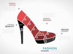 Fashion template with high heels shoes symbol