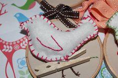 Margaret's Child: Little bird Christmas ornament