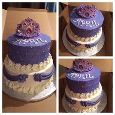 Sophia the first birthday cake with crown:)