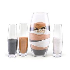 Have & Hold Sand Ceremony Set-Glass cylinder set with design printed in gold on the large cylinder. to have & to hold Set includes one large cylinder and 3 small blank cylinders. Large: 10 x 5 diameterSmall: x diameter Sand sold se Pond Wedding, Wedding Sand, Wedding Ceremony, Dream Wedding, Unity Sand, Sand Glass, Unity Ceremony, Church Flowers, Wedding Accessories