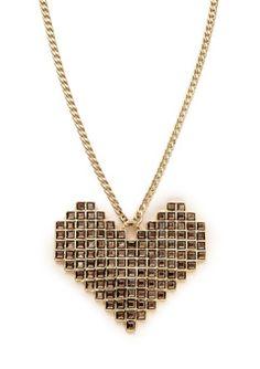 pixelated heart.