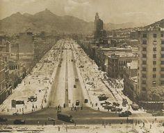 Obras da construção da Avenida Presidente Vargas