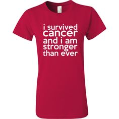 I Survived Cancer and I am Stronger Than Ever shirts, apparel and gifts to celebrate your strength and courage over cancer by awarenessribboncolors.com  #cancersurvivor #bloodcancerawareness #strongerthancancer