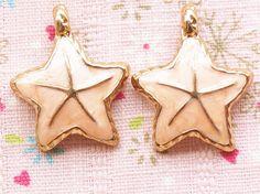 3 Pcs Peach Starfish Metal Accessory Charms Charm Pendant Jewelry Making Phone Decoration #A1534